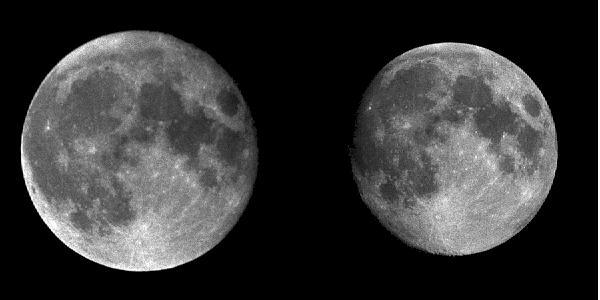 månen rundt jorda tid